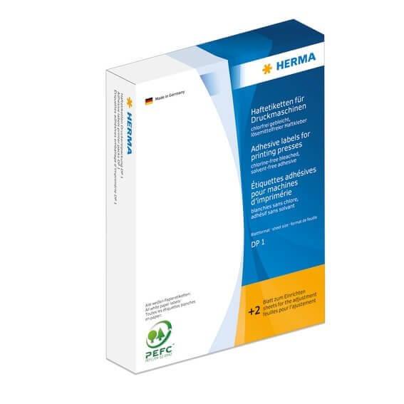 HERMA 3170 Haftetiketten für Druckmaschinen DP1 32x41 mm weiß Papier matt 2500 Stück