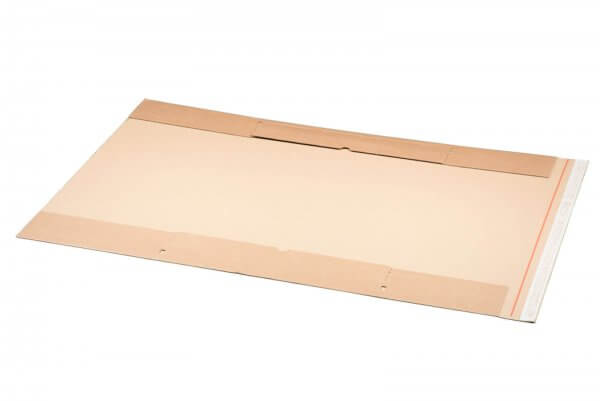 Kartonversandtasche für Kalender 500 x 750 x 45 mm mit Aufreißfaden & Selbstklebeverschluss