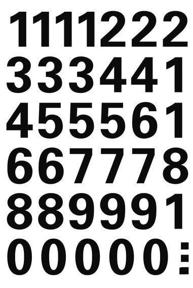 HERMA 4164 Zahlen 15 mm 0-9 wetterfest Folie schwarz 10 Bl.