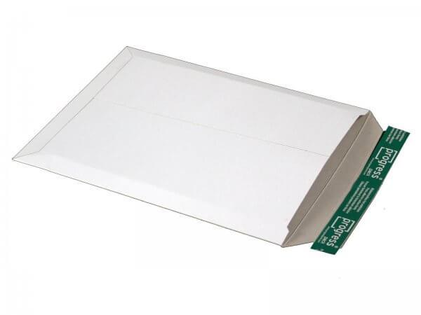Versandtasche aus Vollpappe 375 x 295 x - 32 mm Weiß