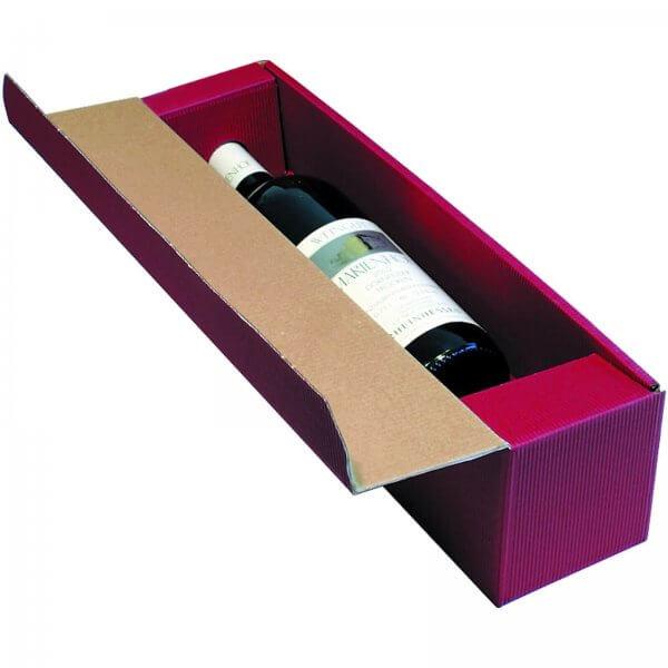 Geschenkkarton für 1 Flasche Wein 92 x 96 x 385 mm Bordeaux