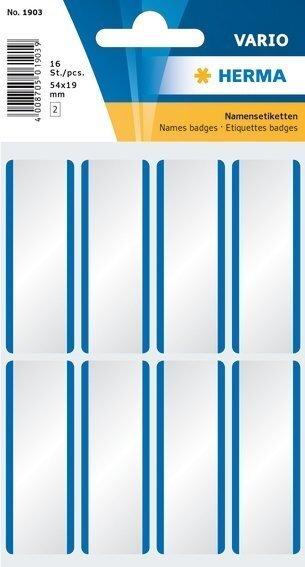 HERMA 1903 Namensetiketten 54 x 19 mm weiß/blaue Streifen ablösbar Acetatseide 160 Stück