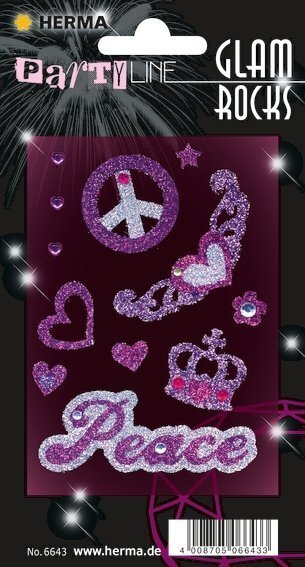 HERMA 6643 10x Glam Rocks Peace