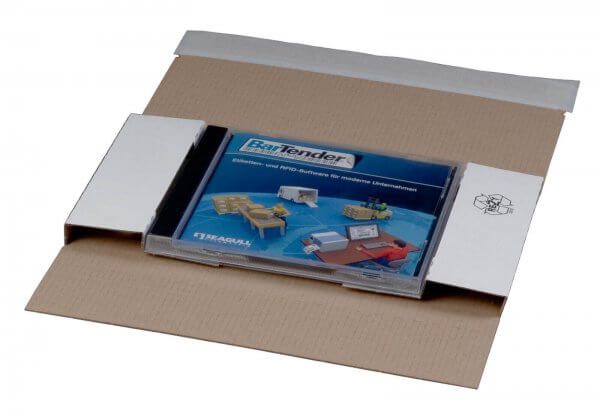 CD/DVD-Versandverpackung in DIN lang für 1 Jewel-Case 225 x 125 x 12 mm Weiß