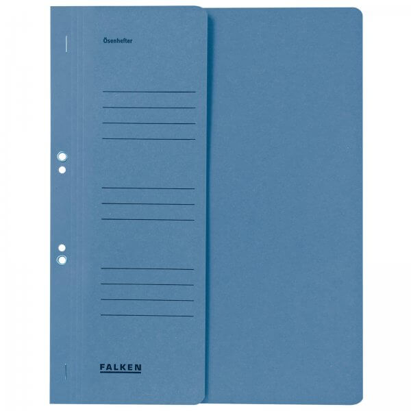 Ösenhefter DIN A4 1/2 Vorderdeckel kaufmännische Heftung Blau