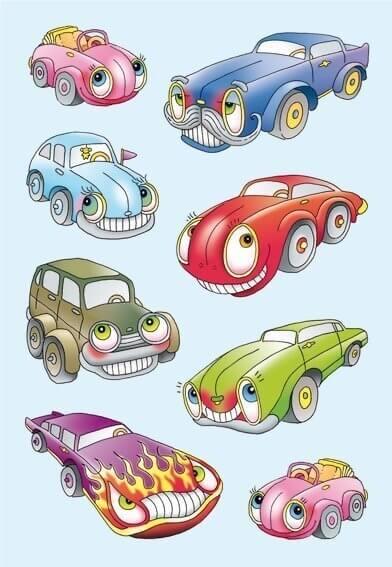 HERMA 3451 10x Sticker DECOR Autos I