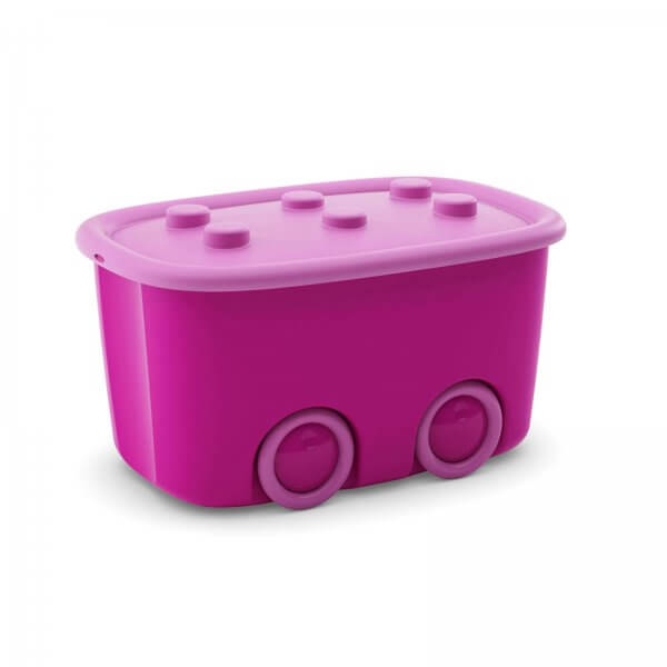 Spielzeugaufbewahrungsbox 46 Liter Pink/Rosa