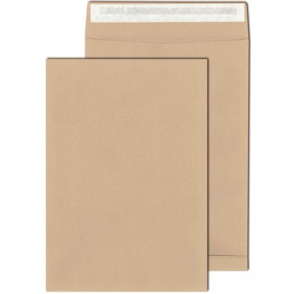 Faltentaschen DIN C4 130 g/m² Haftklebend mit 4cm Falte