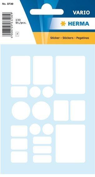 HERMA 3730 Vielzwecketiketten 7 Formate sortiert weiß Papier matt 1330 Stück