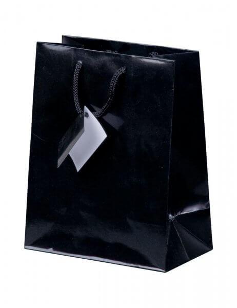 Geschenktüte in Schwarz Hochglanz 180 x 100 x 227 mm