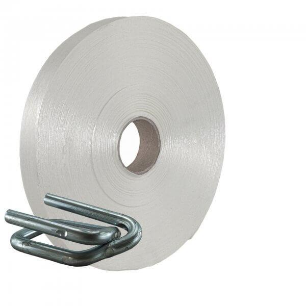 Umreifungsset 35 mm Textil Metallklemmen verzinkt