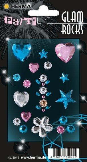 HERMA 5042 10x Glam Rocks Hearts and Stars