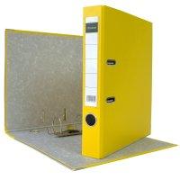 DIN A4 Aktenordner 5 cm PP Kunststoff Gelb