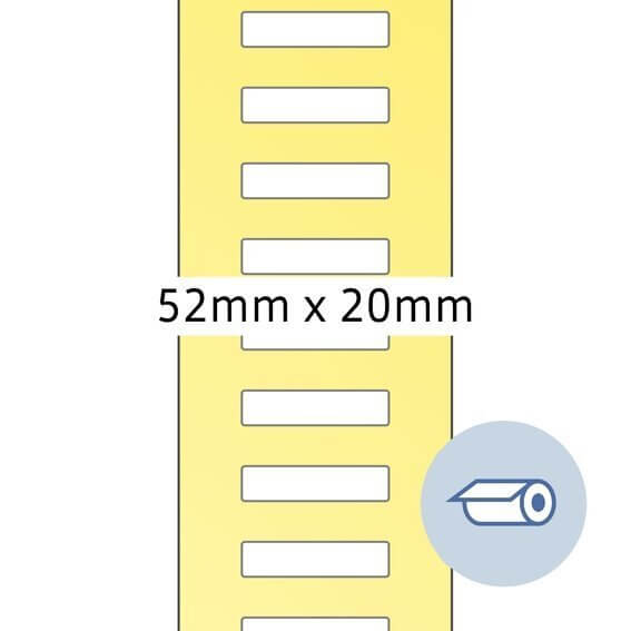 HERMA 4066 Rollenetiketten Thermotransfer 52x195 mm weiß Papier seidenmatt 5000 Stück