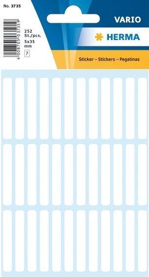 HERMA 3735 Vielzwecketiketten 5x35 mm weiß Papier matt 2520 Stück