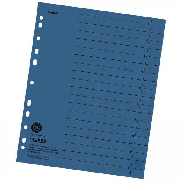 Trennblätter DIN A4 aus Manilakarton 230 g/m² Blau