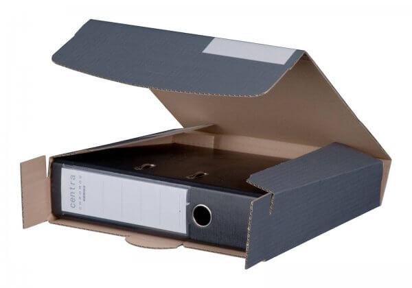 Ordnerversandkarton 320 x 288 x 50-80 mm mit Steckverschluss Anthrazit