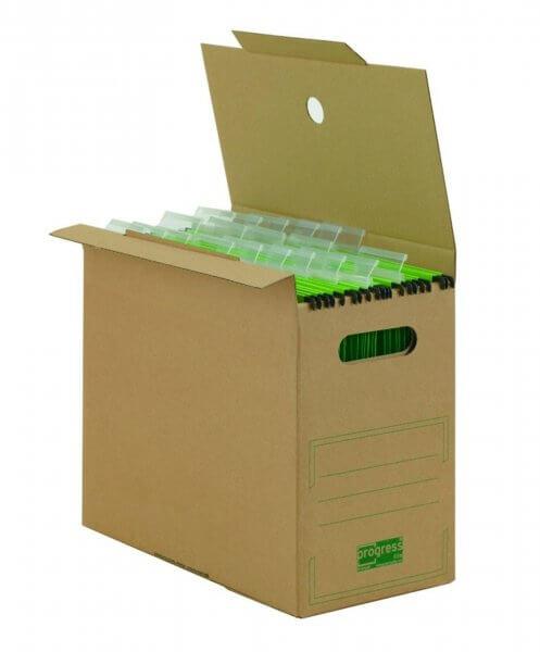 PREMIUM Hänge-Ablagebox 325 x 160 x 275 mm Braun