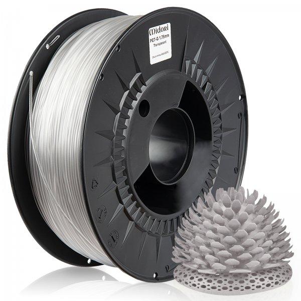 Midori® 3D PETG Filament 1,75mm 1kg Spule Transparent