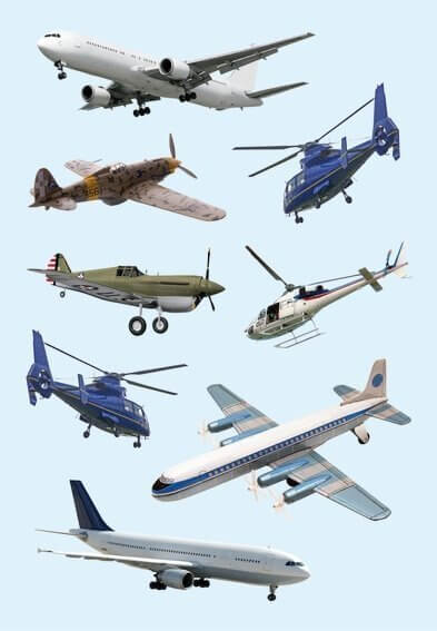 HERMA 3442 10x Sticker DECOR Flugzeuge