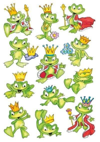 HERMA 3429 10x Sticker DECOR Froschkönig