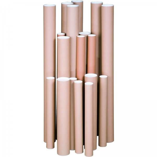 Verandrohr mit Deckel 760 x 75 x 1,5 mm