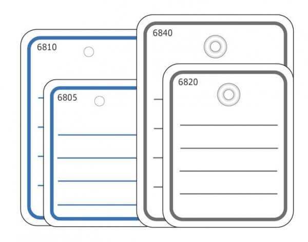 HERMA 6841 Stückwarenanhänger 48x65 mm mit Öse / Faden 1000 Stück