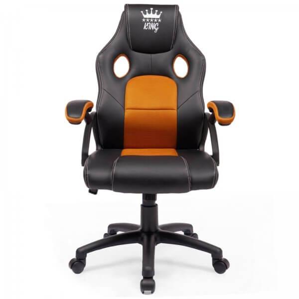 Midori® Racing Stuhl Bürostuhl Drehstuhl Sportsitz Schwarz/Orange
