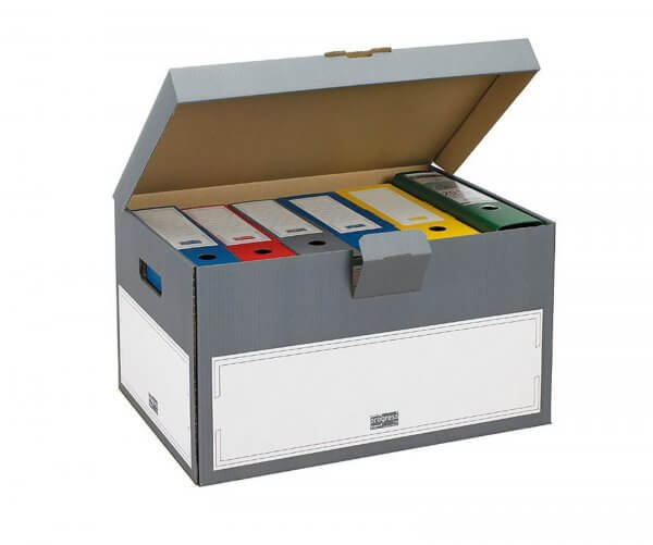SELECT Archiv Transportcontainer 530 x 380 x 285 mm Grau