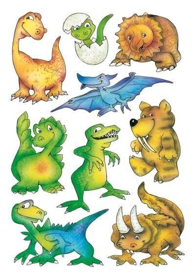 HERMA 3431 10x Sticker DECOR Dinos