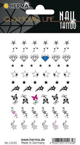 HERMA 15165 10x CLASSIC Nail Tattoo Stars