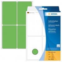 HERMA 2495 Vielzwecketiketten 52 x 82 mm Papier matt Handbeschriftung 128 Stück Grün