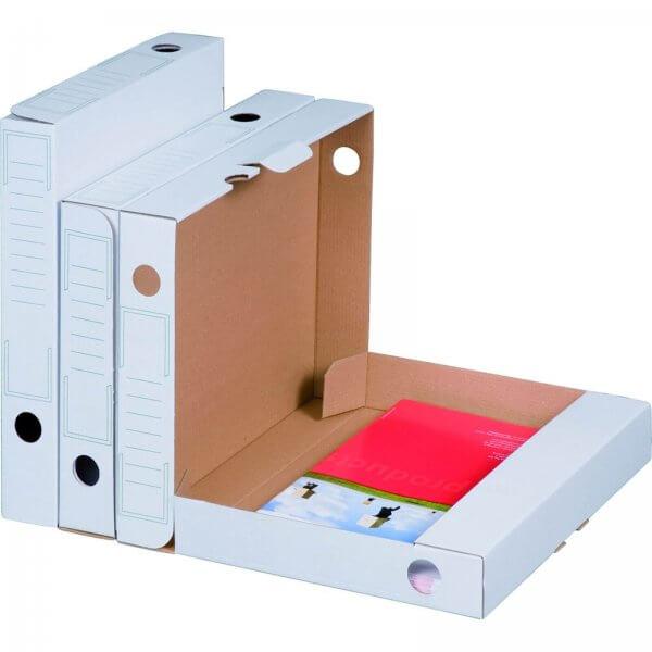 Archiv-Ablagebox 250 x 45 x 317 mm Weiß