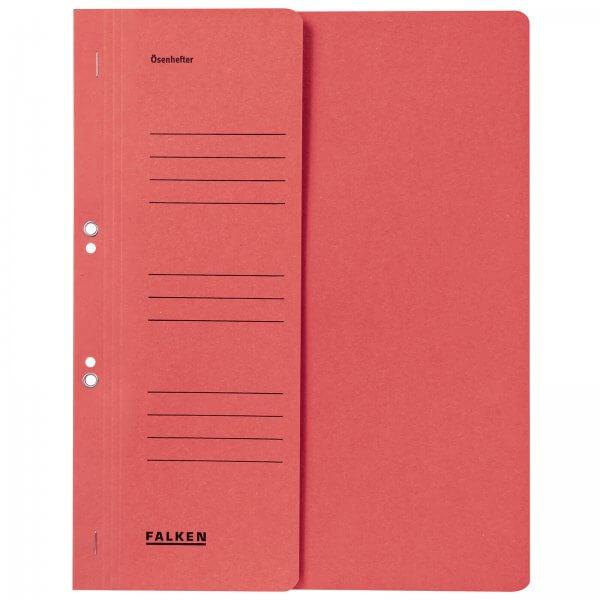 Ösenhefter DIN A4 1/2 Vorderdeckel kaufmännische Heftung Rot