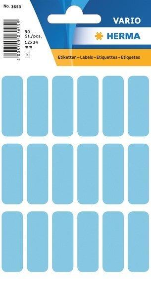 HERMA 3653 Vielzwecketiketten 12x34 mm blau Papier matt 900 Stück