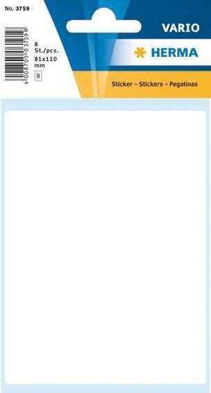 HERMA 3759 Vielzwecketiketten 81x110 mm weiß Papier matt 80 Stück