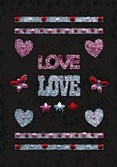 HERMA 6647 10x Glam Rocks Love