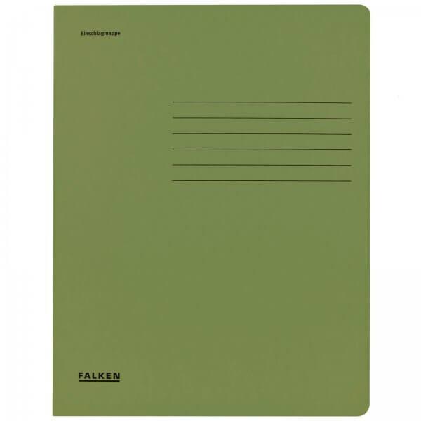 Einschlagmappe DIN A4 aus Manilakarton Grün