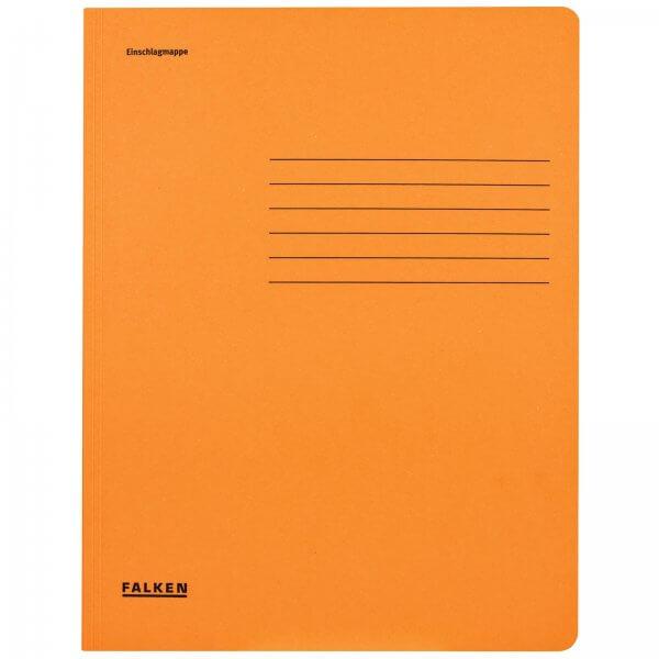 Einschlagmappe DIN A4 aus Manilakarton Orange