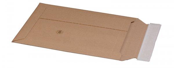 Kartonversandtasche 246 x 357 x 50 mm DIN B4 mit Aufreißfaden & Selbstklebeverschluss