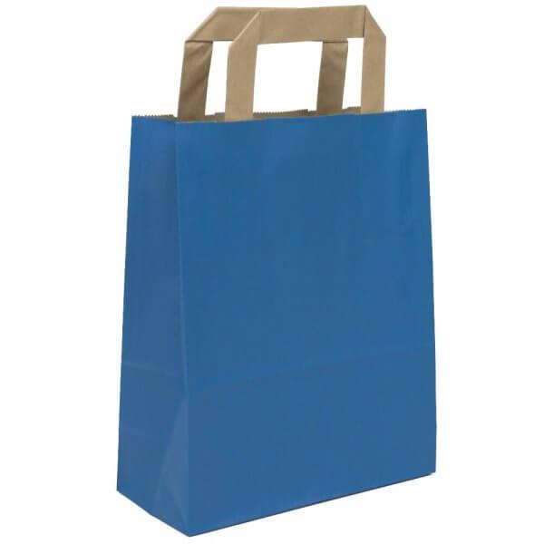 Papiertragetaschen 18 + 08 x 22 Blau