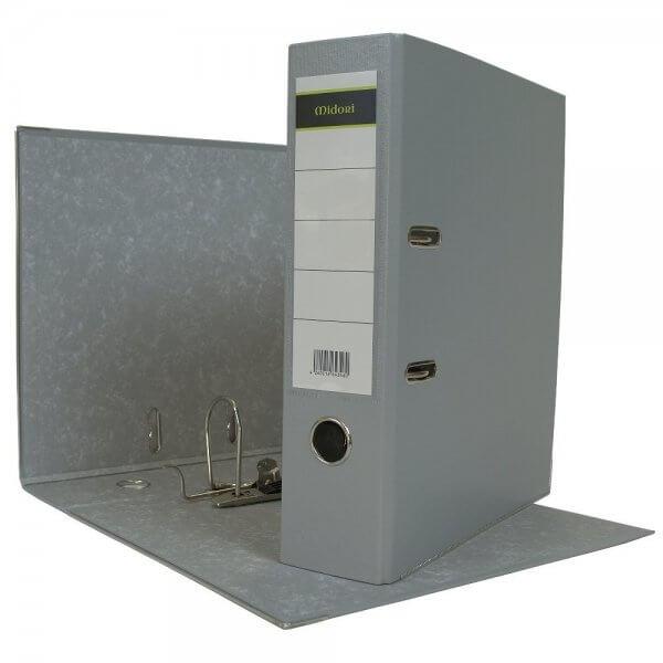 DIN A4 Aktenordner 8 cm PP Kunststoff Grau
