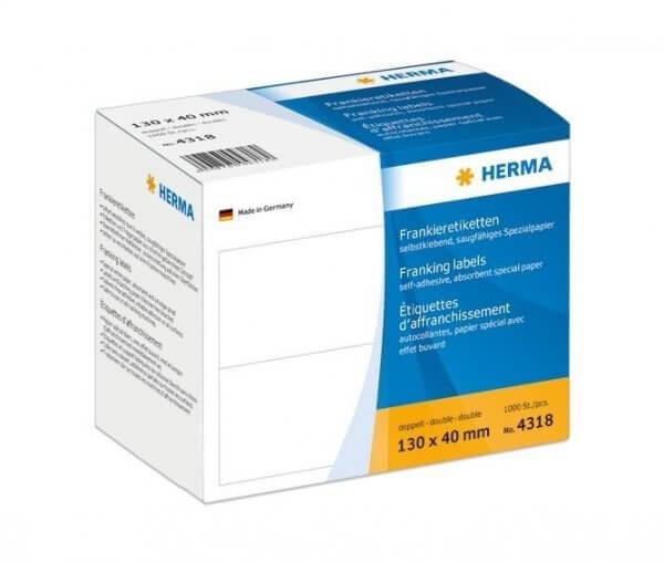 HERMA 4318 Frankieretiketten doppelt 130x40 mm 1000 Stück