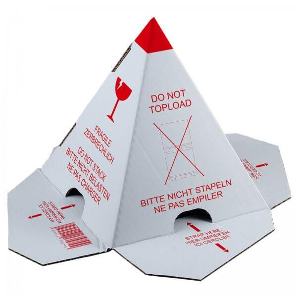 """Palettenhütchen """"Nicht stapeln"""" Stapelschutzpyramide mit Selbstklebestreifen"""