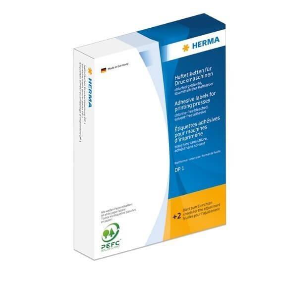 HERMA 2741 Haftetiketten für Druckmaschinen DP1 Ø 19 mm rund gelb Papier matt 10000 Stück