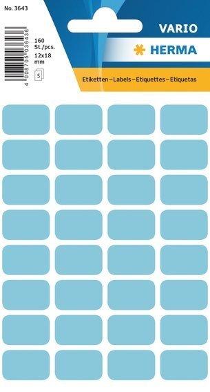 HERMA 3643 Vielzwecketiketten 12x18 mm blau Papier matt 1600 Stück