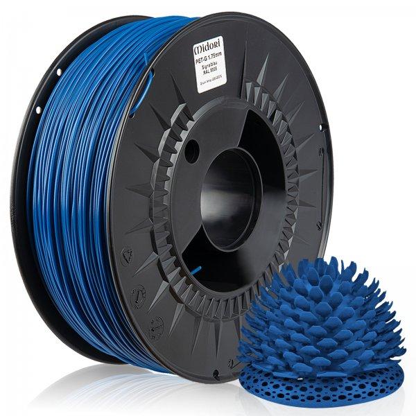Midori® 3D PETG Filament 1,75mm 1kg Spule Signalblau RAL5005