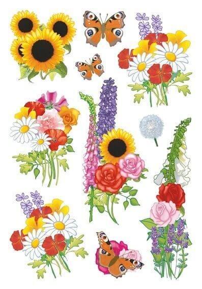 HERMA 3369 10x Sticker DECOR Moderne Blumen