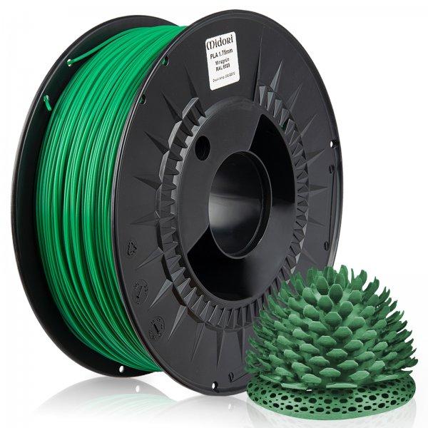 Midori® 3D PLA Filament 1,75mm 1kg Spule Minzgrün RAL6029